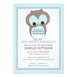 Sweet Baby Owl Boy Whoo Baby Shower
