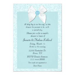 Sweet Blue Couple's Baby Shower