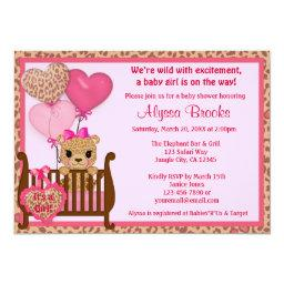 Sweet CHEETAH Girl Baby Shower  CGS Pink