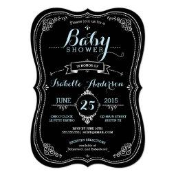 Sweet Fancy Chalkboard Boy Baby Shower