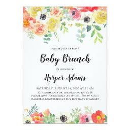 Sweet Floral Baby Brunch