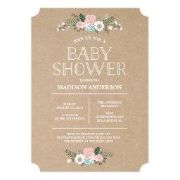 Sweet Floral | Baby Shower Invitations