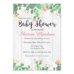 Sweet Floral Cactus Baby Shower