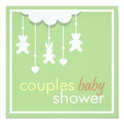 Sweet Green Mobile Couples Baby Shower