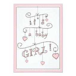 Sweet Heart Pink Baby Girl Mobile Baby Shower