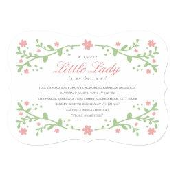 Sweet Little Lady Baby Shower Invitations
