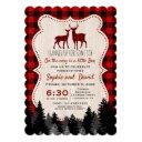 Sweet Lumberjack Little Hunter Baby Shower Invitation