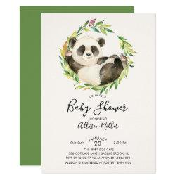 Bear baby shower invitations babyshowerinvitations4u sweet panda bear baby shower filmwisefo Choice Image