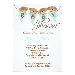 Sweet puppy baby shower