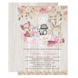 Sweet Rustic Forest Woodland Animal Baby Shower