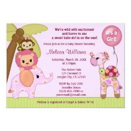 Sweet Safari Baby Shower  jungle girl SS