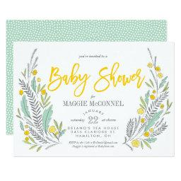Sweet Sprigs Gender Neutral Baby Shower