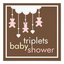 Sweet Triplets Girls Mobile Baby Shower