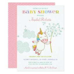 Sweet Unicorn Baby Shower  Dandelion