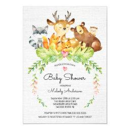 Sweet Woodland Animals Baby Shower