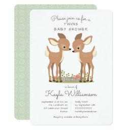 Sweet Woodland Deer Twin Baby Shower