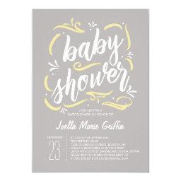 Sweetest Gray And Yellow Baby Shower