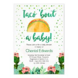 Taco 'bout A Baby Fiesta Baby Shower Invitations