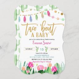 Taco 'bout A Baby Shower Fiesta Invitation