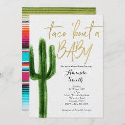 Taco Bout Baby Cactus Couples Shower Invitation