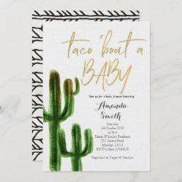Taco Bout Baby Cactus Couples Shower Invite Invitations