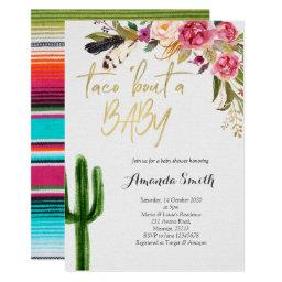 Taco Bout Baby Floral Couples Shower Invitation