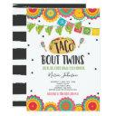 Taco 'bout Twins Fiesta Twin Baby Shower Invitation