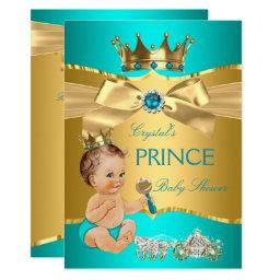 Teal Blue Gold Prince  Brunette Boy