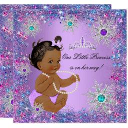 Teal Blue Purple Pink Princess Baby Shower Ethnic