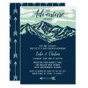 The Adventure Begins Mountain Rustic Baby Shower Invitation