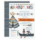 The Adventure Begins - Tribal Baby Shower Invitation