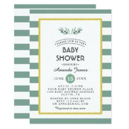 The Olive Spring Baby Shower Invitation