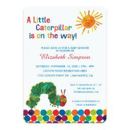 The Very Hungry Caterpillar Baby Shower Invitations
