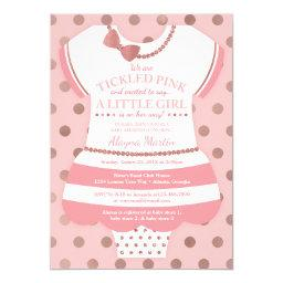 Tickled Pink Baby Shower , Faux Glitter