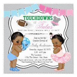 Touchdowns or Tutus Gender Reveal