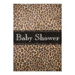Trendy Cheetah Print Baby Shower