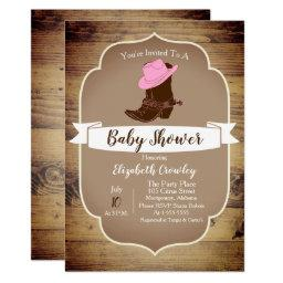 Trendy Rustic Western Cowgirl Boots Invitation