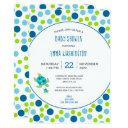 Trendy Sea Turtle Baby Shower Blue Green Dots