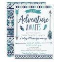 Tribal Arrows Adventure Boy Baby Shower Invitation