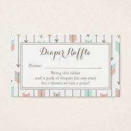 Tribal Arrows Baby Shower Diaper Raffle Ticket