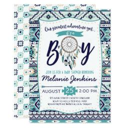 Tribal Arrows Baby Shower Invitation, It's a boy