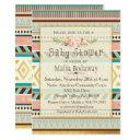 Tribal Boho Baby Shower Invitation