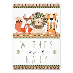 Tribal Wishes for Baby Fox Lion Tiger Baby Shower