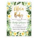 Tropical Aloha Baby Shower Invitation