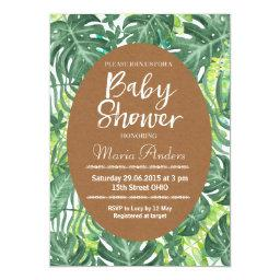 Tropical Leaves | Baby Shower · Tropical