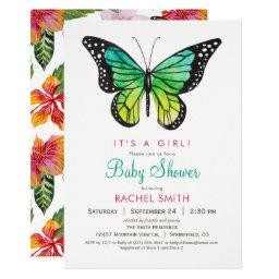 Tropical Butterfly Girl Baby Shower