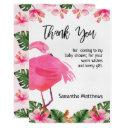 Tropical Flamingo Thank You Invitations