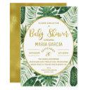 Tropical Foliage Modern Baby Shower