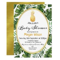 Tropical Gold Pineapple Baby Shower