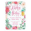 Tropical Pineapple Aloha Baby Shower Invitation